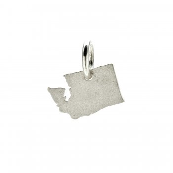 washington charm, sterling silver