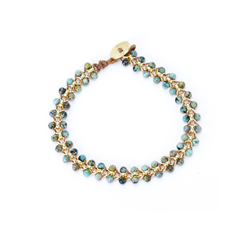 jewel box small parallel african turquoise gemstone bracelet