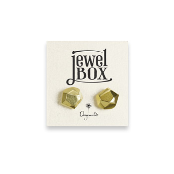 jewel+box+gold+dipped+nugget+stud+earrings