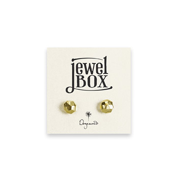 jewel box gold dipped faceted stud earrings