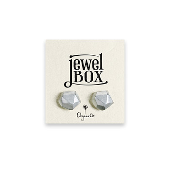 jewel+box+sterling+silver+nugget+stud+earrings