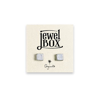 jewel+box+sterling+silver+square+stud+earrings