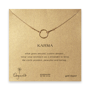 karma+necklace%2C+gold+dipped+-+18+inch