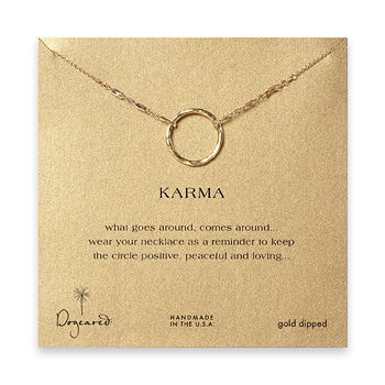 large+karma+necklace+gold+dipped+-+18+inch