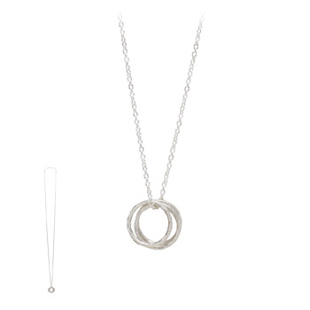 triple+textured+large+karma+necklace%2C+silver+-+36+inches