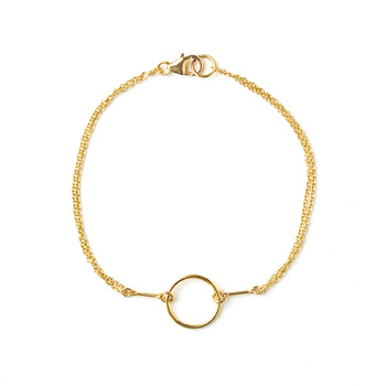 karma bracelet, gold dipped