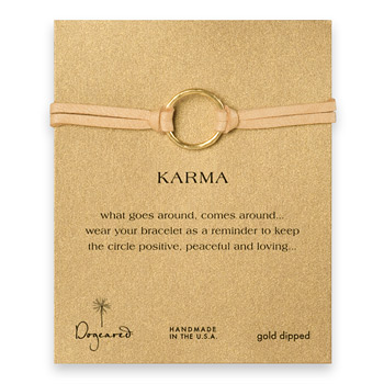large+karma+bracelet+gold+dipped+on+camel+leather