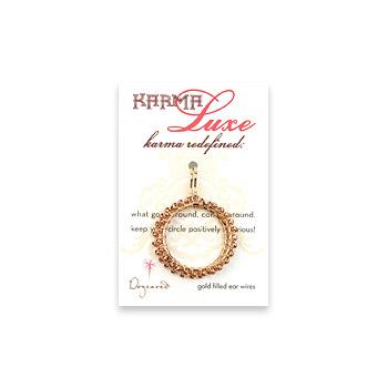 medium karma luxe rose gold dipped multi bead earrings