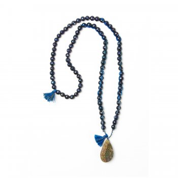limited+edition+rainbow+pyrite+necklace%2C+blue%2Fblack+freshwater+pearls