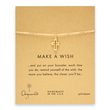 make+a+wish+modern+cross+bracelet%2C+gold+dipped