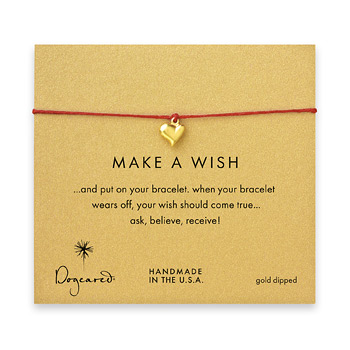 make+a+wish+full+heart+bracelet+on+red%2C+gold+dipped