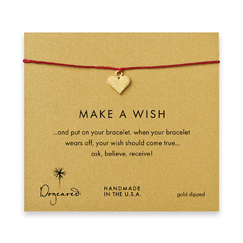 make+a+wish+perfect+heart+bracelet+on+red%2C+gold+dipped