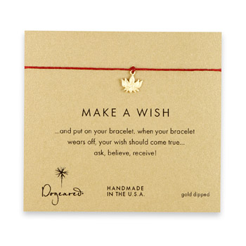make+a+wish+lotus+bracelet+on+red%2C+gold+dipped