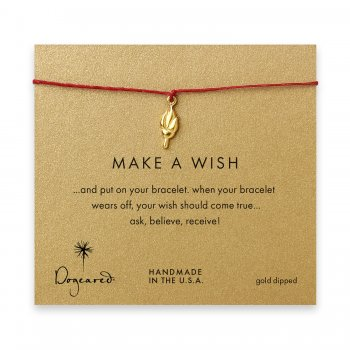 make+a+wish+torch+bracelet+on+red%2C+gold+dipped