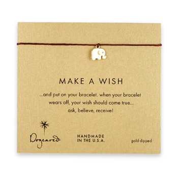 make+a+wish+elephant+bracelet+on+maroon%2C+gold+dipped