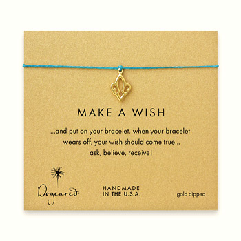 make+a+wish+fleur+de+lis+bracelet+on+teal%2C+gold+dipped