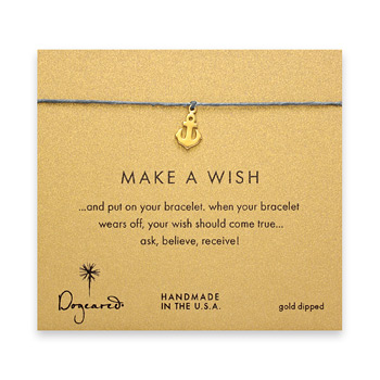 make+a+wish+smooth+anchor+bracelet+on+ocean%2C+gold+dipped