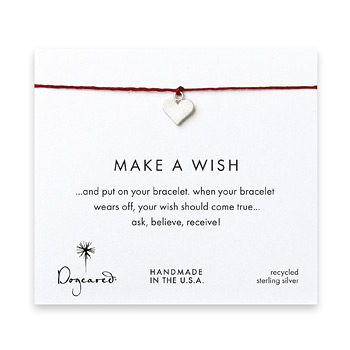 make+a+wish+perfect+heart+bracelet+on+red%2C+sterling+silver