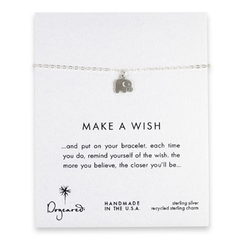 make a wish elephant bracelet, sterling silver