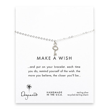 make a wish key bracelet, sterling silver