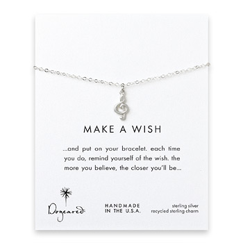 make a wish sterling silver treble clef reminder bracelet