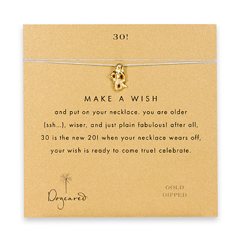 30! make a wish necklace with gold dipped mermaid on mint