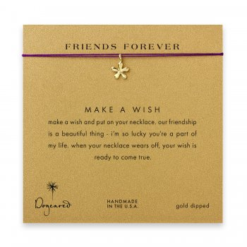 friends+forever+groovy+flower+necklace+on+amethyst%2C+gold+dipped