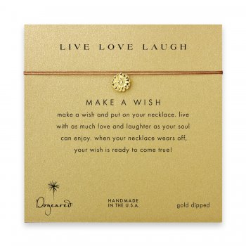 live+love+laugh+daisy+necklace+on+tobacco%2C+gold+dipped