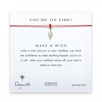 you%27re+on+fire%21+Torch+necklace+on+red%2C+sterling+silver