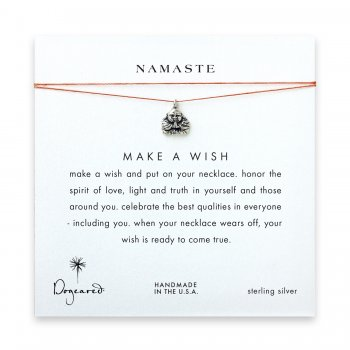 namaste+buddha+necklace+on+orange%2C+sterling+silver