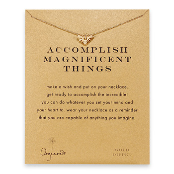 accomplish+magnificent+things+bee+necklace%2C+gold+dipped