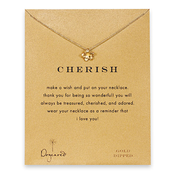 cherish+plumeria+necklace%2C+gold+dipped