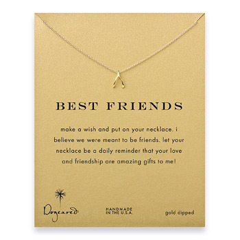 best+friends+wishbone+necklace%2C+gold+dipped