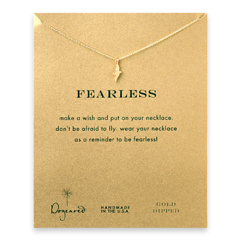 fearless reminder necklace with gold dipped seagull