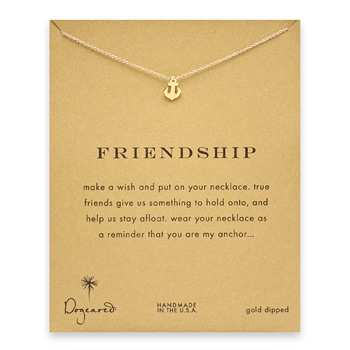 friendship+smooth+anchor+necklace%2C+gold+dipped