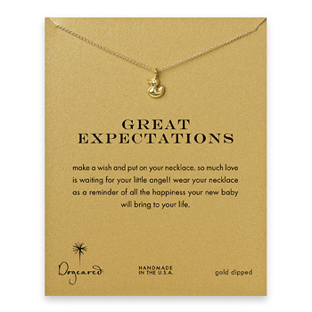 great expectations ducky necklace, gold dipped