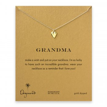 grandma kind heart necklace, gold dipped