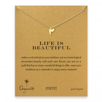 life+is+beautiful+hummingbird+necklace%2C+gold+dipped