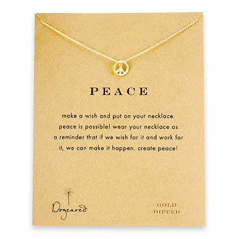 peace+sign+necklace%2C+gold+dipped