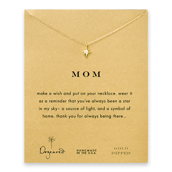 mom+north+star+necklace%2C+gold+dipped