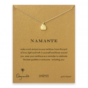 namaste buddha necklace, gold dipped