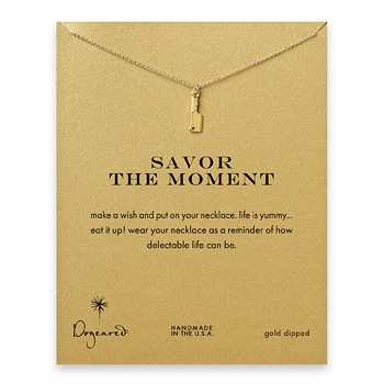 savor+the+moment+reminder+necklace+with+gold+dipped+chef%27s+knife
