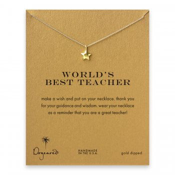 world%27s+best+teacher+star+necklace%2C+gold+dipped