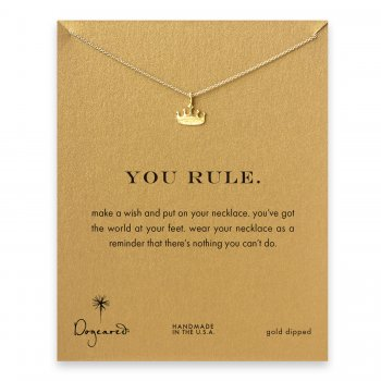 you+rule+crown+necklace%2C+gold+dipped