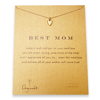 best mom reminder necklace with gold dipped kind heart-18 inch