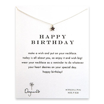 happy birthday teeny star necklace, sterling silver