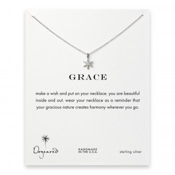 grace star flower necklace, sterling silver