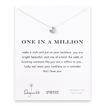 one in a million sand dollar necklace, sterling silver