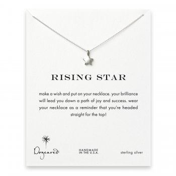 rising star full star necklace, sterling silver