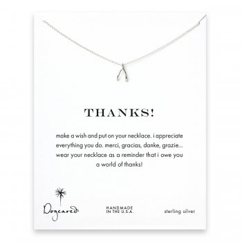thanks! Wishbone necklace, sterling silver